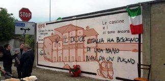 arconate fascisti di merda imbrattano murales 25 aprile