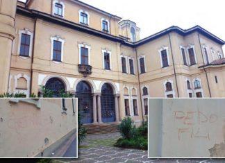 corbetta scritte contro padri somaschi pedofili chiesa mafia