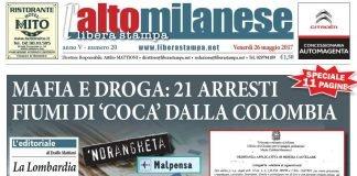 prima pagina 26 maggio 2017 libera stampa l'altomilanese